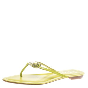 Dior Leather Detail Green Flats