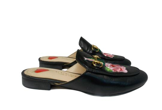 Gucci Luxury Fascinante Nice Leather Black Mules Image 1