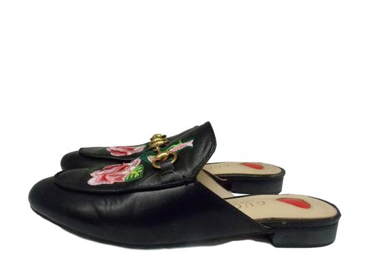 Gucci Luxury Fascinante Nice Leather Black Mules Image 2