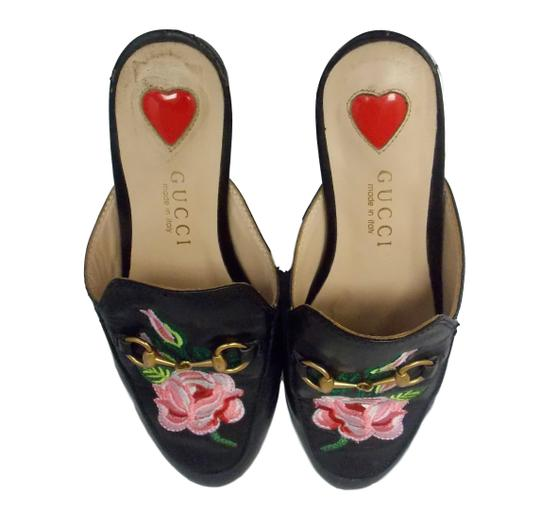 Gucci Luxury Fascinante Nice Leather Black Mules Image 5