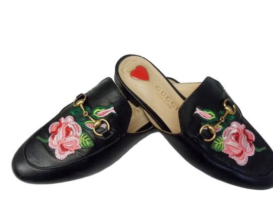 Gucci Luxury Fascinante Nice Leather Black Mules Image 6