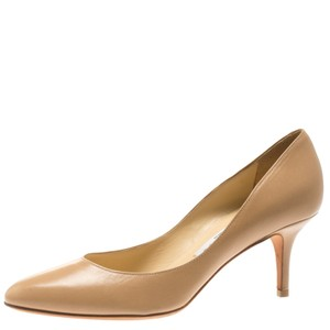 Jimmy Choo Leather Beige Pumps