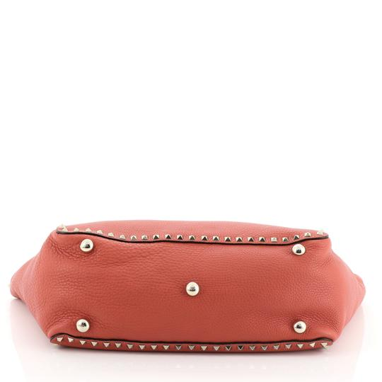 Valentino Rockstud Leather Tote in red Image 4