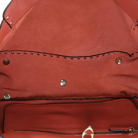 Valentino Rockstud Leather Tote in red Image 5