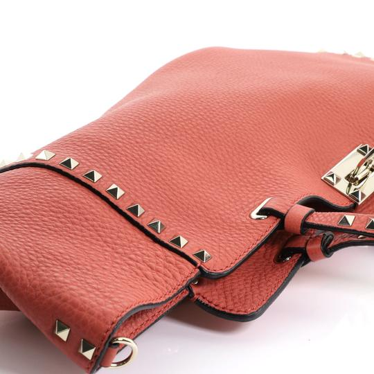 Valentino Rockstud Leather Tote in red Image 6