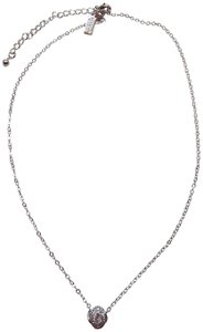 Kate Spade Kate Spade New Silver Mini Knot Necklace