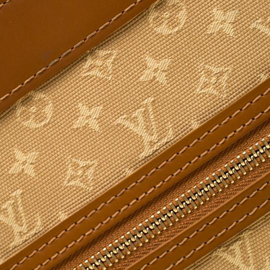Louis Vuitton Leather Canvas Monogram Tote in Beige Image 10