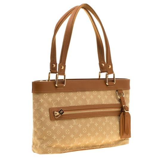 Louis Vuitton Leather Canvas Monogram Tote in Beige Image 2