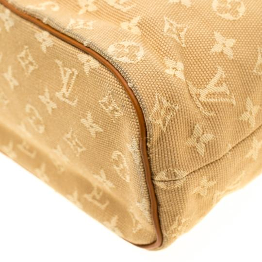 Louis Vuitton Leather Canvas Monogram Tote in Beige Image 4