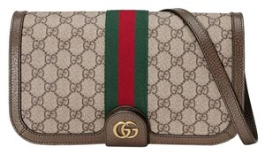Gucci Canvas Adjustable Strap Brown Messenger Bag