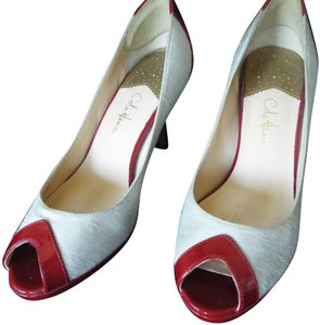Cole Haan Cream and Red Pumps