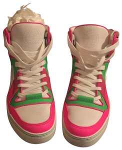 Gucci white/neon pink/neon green Athletic