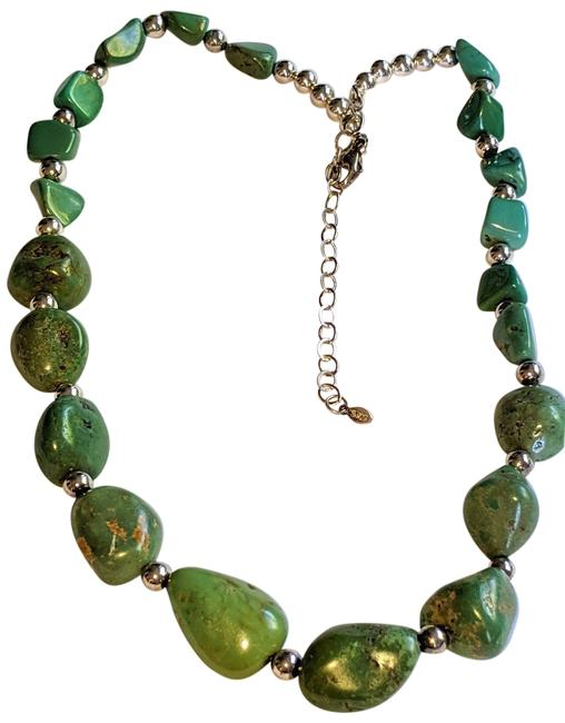 Item - Green Silver Turquoise Sterling Necklace