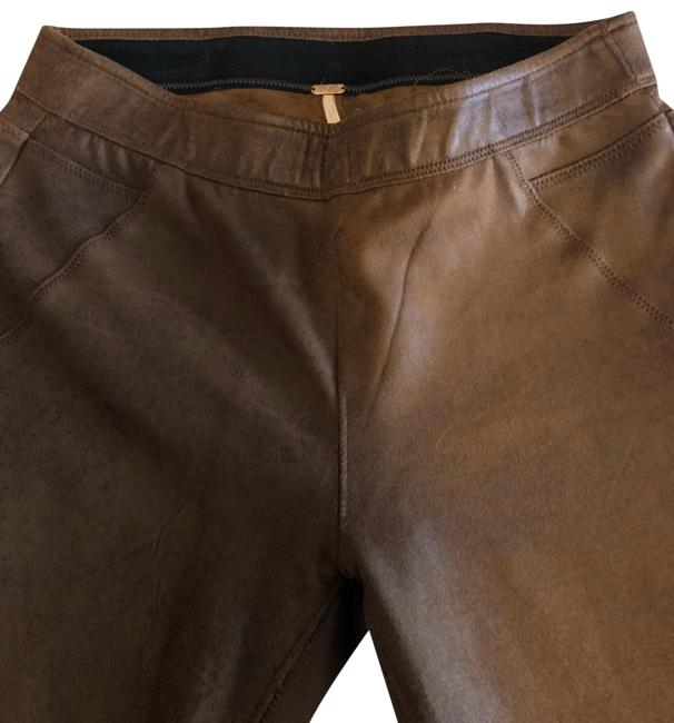 Item - Brown Distressed Vegan Leather Jeggings Size 2 (XS, 26)