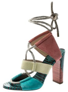Jimmy Choo Suede Ankle Multicolor Sandals