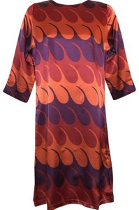 Tracy Negoshian Retro 3/4 Sleeve Mini Dress