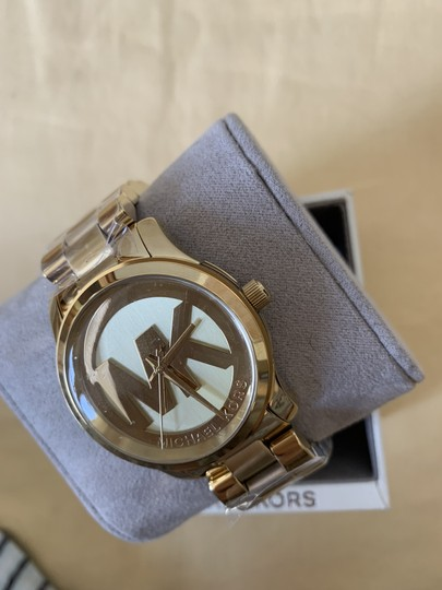 Michael Kors NWT Michael Kors Gold-Tone Runway Midsized Watch MK5786 Image 4