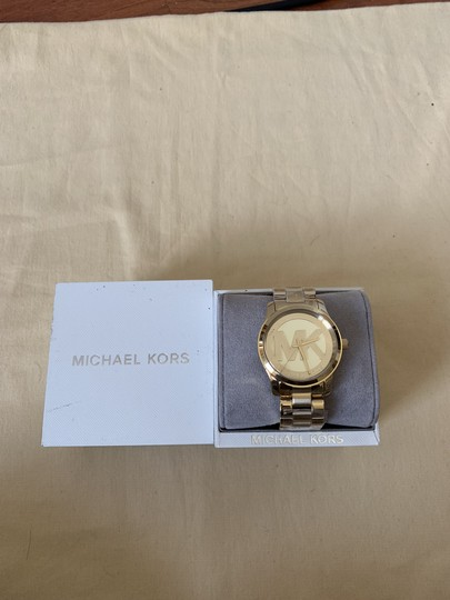 Michael Kors NWT Michael Kors Gold-Tone Runway Midsized Watch MK5786 Image 8