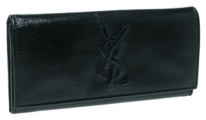Saint Laurent Dark Green Patent Leather Belle De Jour Wallet