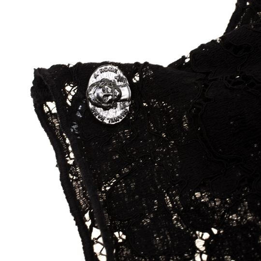 Chanel Chanel Black Floral Lace Fingerless Opera Gloves M Image 2