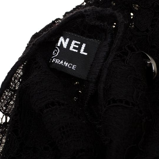 Chanel Chanel Black Floral Lace Fingerless Opera Gloves M Image 3