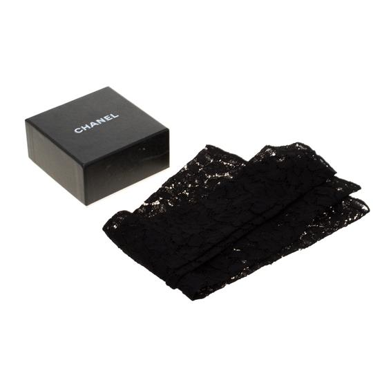 Chanel Chanel Black Floral Lace Fingerless Opera Gloves M Image 6