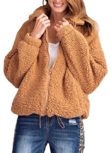 Easel Teddybear Fleece Oversized Zipupjacket Soft Fur Coat