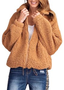 Easel Teddybear Fleece Soft Oversized Fur Coat