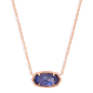 Kendra Scott Kendra Scott * Elisa Necklace Navy Dusted Rosegold