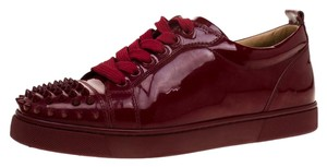 Christian Louboutin Patent Leather Leather Burgundy Athletic