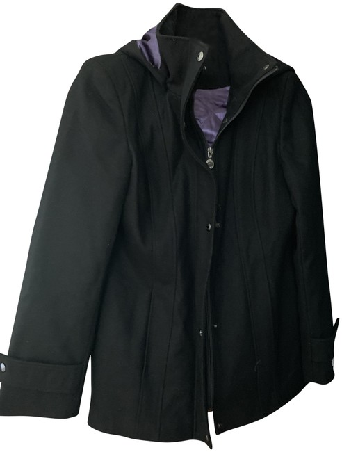 Item - Black & Purple Lining Inside Coat Size 6 (S)