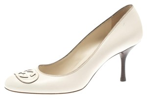 Gucci Leather White Pumps