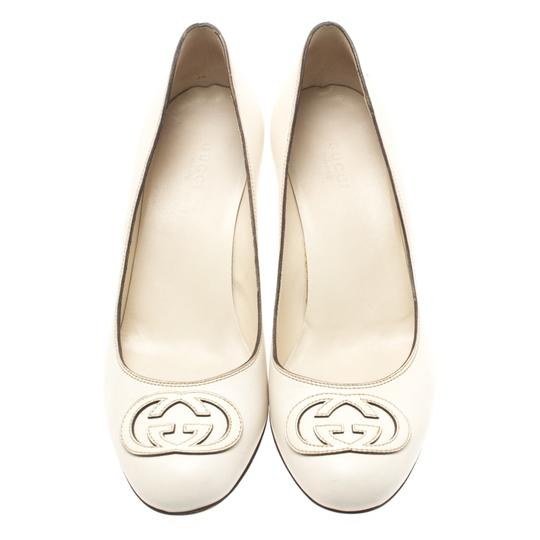 Gucci Leather White Pumps Image 1