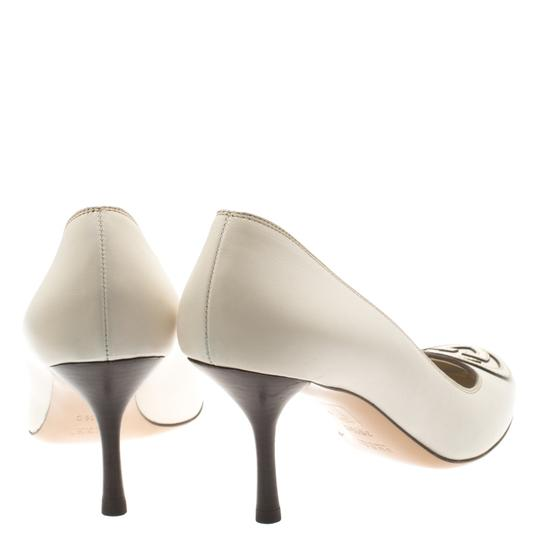 Gucci Leather White Pumps Image 2