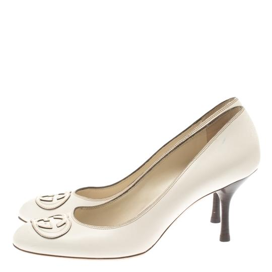 Gucci Leather White Pumps Image 4