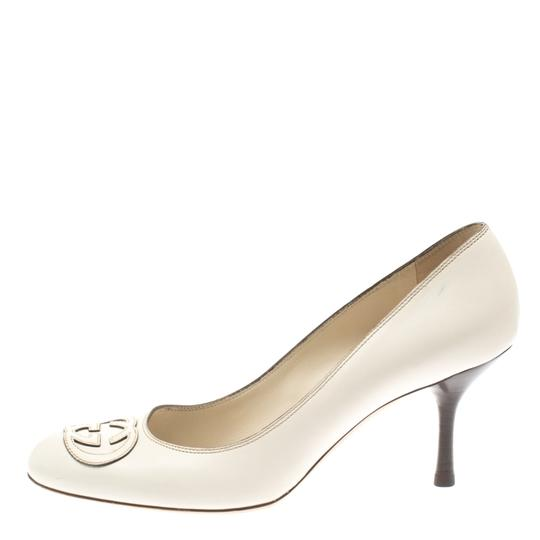 Gucci Leather White Pumps Image 5