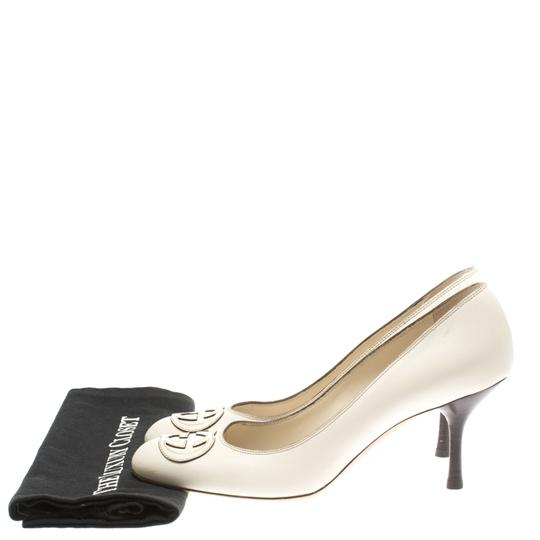 Gucci Leather White Pumps Image 7