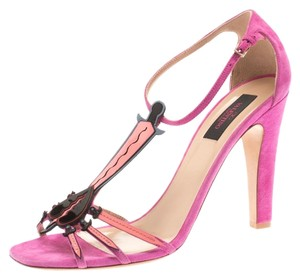 Valentino Suede Leather Pink Sandals