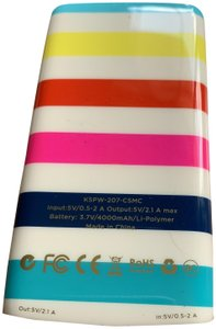 Kate Spade kate spade new york 4000mAh portable backup battery - candy stripe