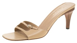 Gucci Leather Beige Sandals