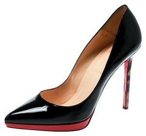 Christian Louboutin Patent Leather Print Leather Multicolor Pumps