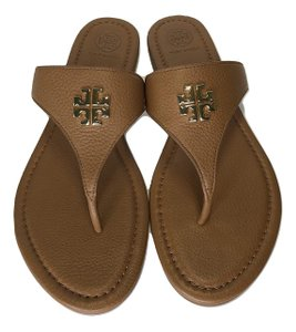 Tory Burch Travel Flats Leather royal tan Sandals