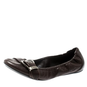 Dior Leather Detail Brown Flats
