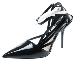 Dior Patent Leather Ankle Strap Black Sandals
