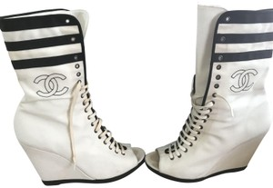 Chanel Rare Runway Limited Edition Black/White Boots