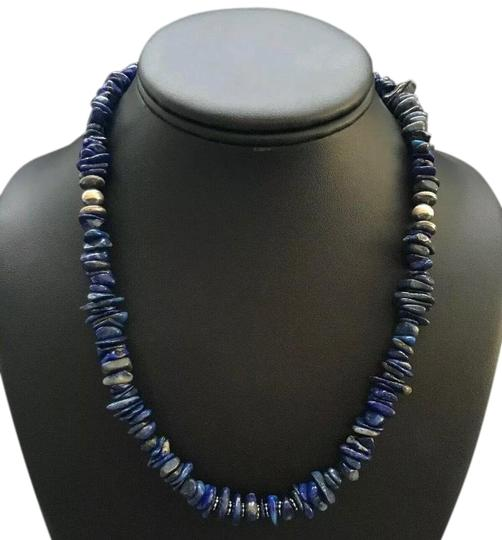 Preload https://img-static.tradesy.com/item/26020705/lapis-sterling-silver-necklace-0-2-540-540.jpg