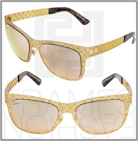 Gucci GG4266S Copper Gold Rose Mirrored Metal DDB0J 4266 Ultra Light Image 2