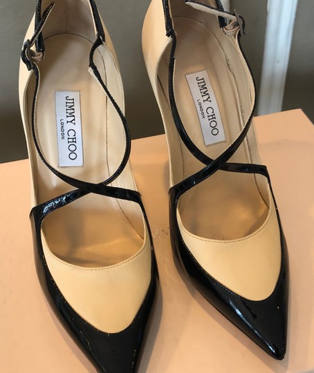 Jimmy Choo Swan/Black Pumps Image 1