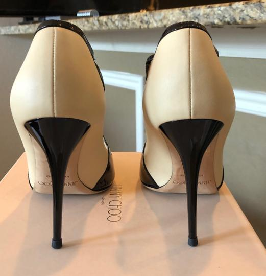 Jimmy Choo Swan/Black Pumps Image 2