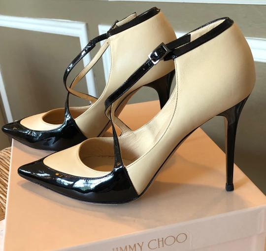 Jimmy Choo Swan/Black Pumps Image 3